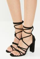 Superbalist - Zen strappy heel - black