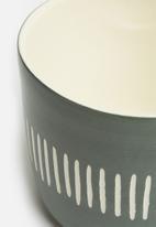 Urchin Art - Tribal outdoor planter - grey