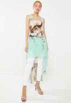 c(inch) - Hi lo tunic dress - multi