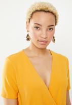 c(inch) - Wrap detail playsuit - yellow