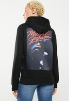 Cotton On - Delevinge graphic hoodie  - black