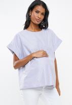 Superbalist - Boxy maternity tee - blue & white