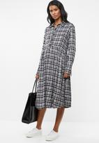 edit Maternity - Button down shirt dress - black & white