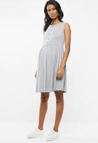 edit Maternity - Baby doll tank dress - grey