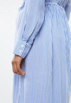 edit Maternity - Twist front maternity shirt dress - blue & white