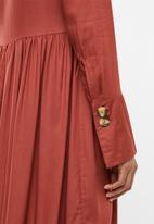 edit Maternity - Button down shirt dress - rust