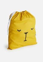 Sixth Floor - Bear face storage bag - mustard