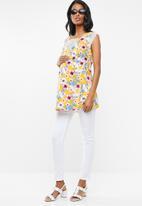 edit Maternity - Lace inset tank top - yellow