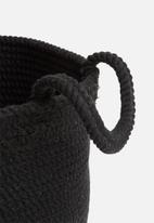 Sixth Floor - Braided basket - black