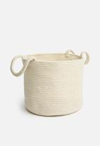 Sixth Floor - Braided basket - cream