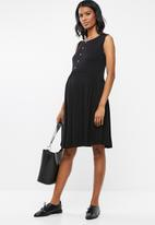 edit Maternity - Baby doll tank dress - black