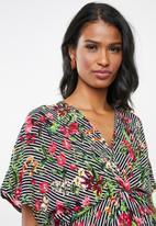 edit Maternity - Knot front blouse - multi