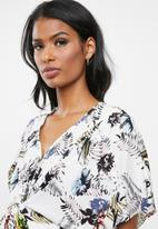 edit Maternity - Knot front blouse - white