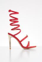 Miss Black - Farrah heel - red