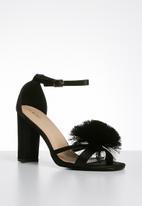 Superbalist - Grace pom pom detail heel - black