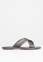 Pringle of Scotland - Cole sandal - brown
