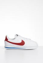Nike - Cortez basic sl bg - white/varsity red-varsity royal-black-mtlc silver