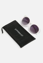 Superbalist - Jasmine oversized cateye sunglasses - white