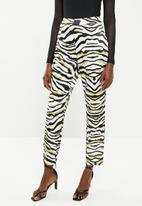 Missguided - Zebra print tailored cigarette trouser - multi