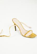 Public Desire - Stiletto heel sandal - yellow & brown