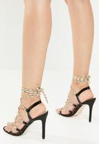 Public Desire - Playa heel - black & multi