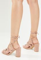 Public Desire - Criss-cross heel sandal - neutral