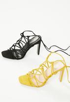 Public Desire - Baby strappy set back high heel - black
