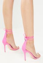 Public Desire - Lycra stiletto sandal - pink