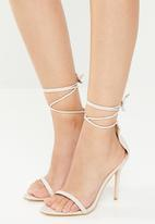 Public Desire - Naughty point toe barely there heel - neutral