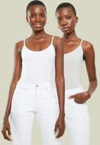 Superbalist - 2pk cami bodysuit - grey & white