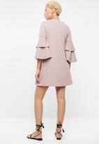 STYLE REPUBLIC - Frill sleeve dress - pink