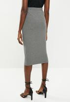 Superbalist - High waisted midi bodycon skirt - grey