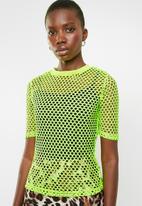 Superbalist - Neon mesh tee - yellow