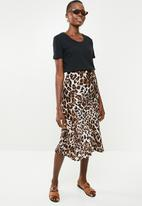 Superbalist - Bias cut animal print midi skirt - multi