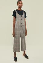 Superbalist - Check button front jumpsuit - multi