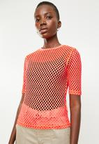 Superbalist - Neon mesh tee - orange