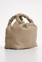 Superbalist - Caitlyn rouched handle bag - beige