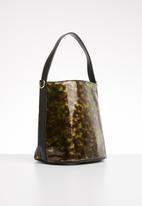 Superbalist - Patent perspex bag - brown & green
