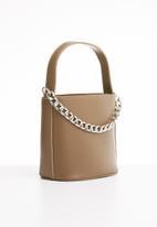 Superbalist - Drawstring chain detail bucket bag - brown