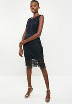 Revenge - Crochet lace shift dress - navy