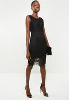 Revenge - Crochet lace shift dress - black