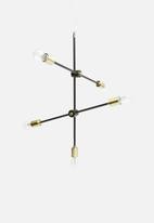 Sixth Floor - Molecule pendant - black