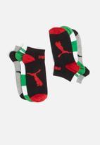 PUMA - 3 Pack triple cat sneaker socks - multi