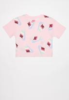 Nike - Nkg g nsw futura graphic crop - pink