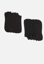 New Look - 5 Pack trainer liner socks - black