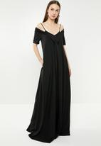 AMANDA LAIRD CHERRY - Pulane maxi dress - black