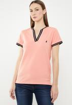 POLO - Simone V-neck golfer - pink