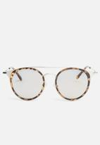 Superbalist - Ben tortoise shell sunglasses - silver & brown