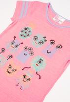 POP CANDY - Girls little monster printed t-shirt - pink