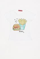 POP CANDY - Girls short sleeve tee - white